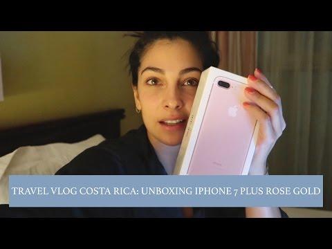 UNBOXING IPHONE 7 PLUS ROSE GOLD: TRAVEL VLOG COSTA RICA - Anna Nooshin