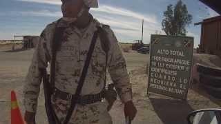 Mexican Army Checkpoint, San Luis Rio Colorado, Mexico, No Habla Español, GOPR0041