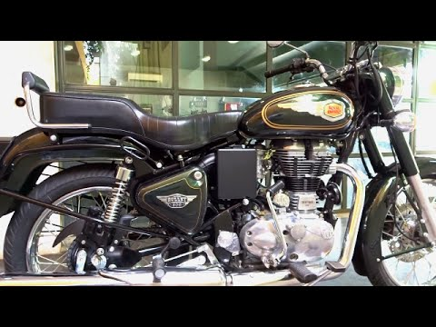 Bikes Dinos Royal Enfield Bullet 500 Test Ride Review Walkaround Green Black Colour