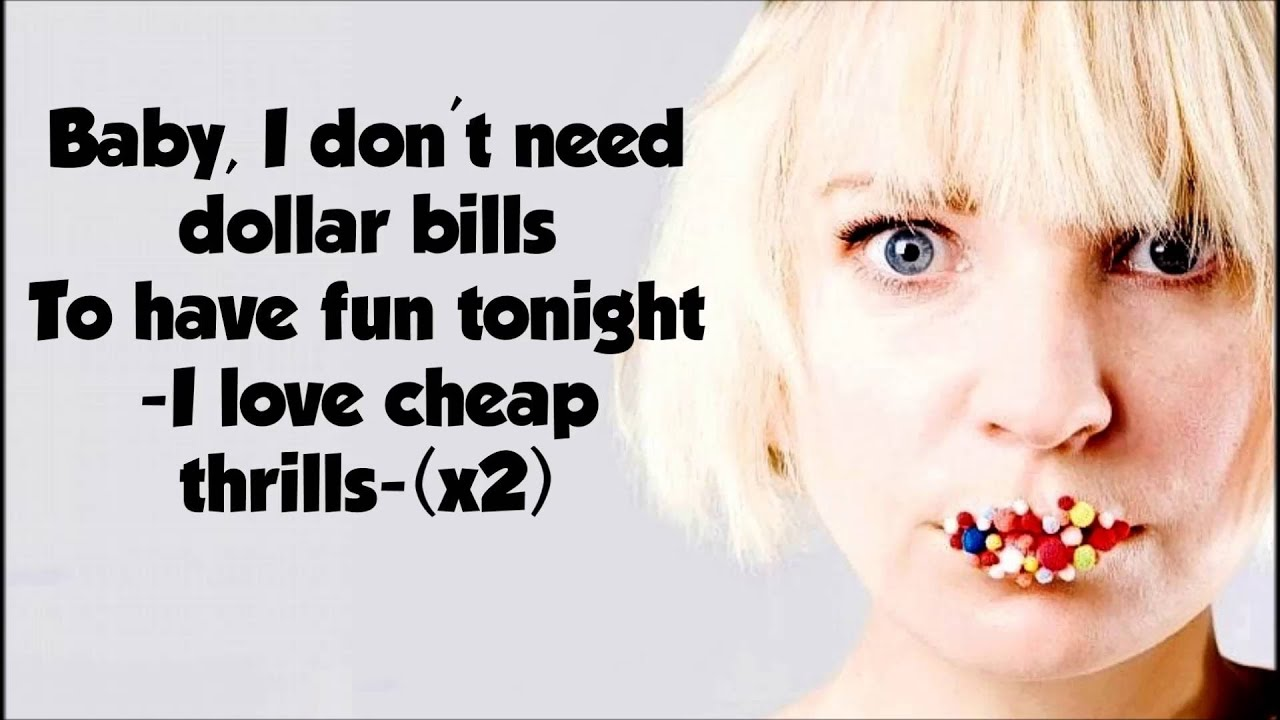 Sia-cheap thrills - lyrics /letra - YouTube