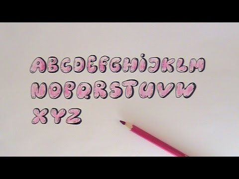 How To Draw In Bubbles Letters