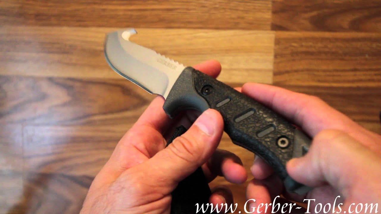 Gerber Metolius Fixed Blade Gut Hook 31-000008 30-000008 Video Demo ...