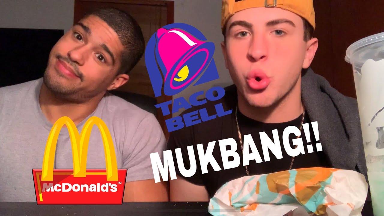 Taco Bell Mcdonalds Mukbang Interracial Gay Couple Edition