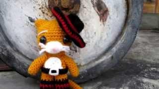Амигуруми: схема Кота в сапогах. Игрушки вязаные крючком! Free crochet patterns.