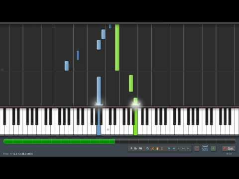 Minecraft - Wet Hands - Piano Tutorial (50% Speed) Synthesia