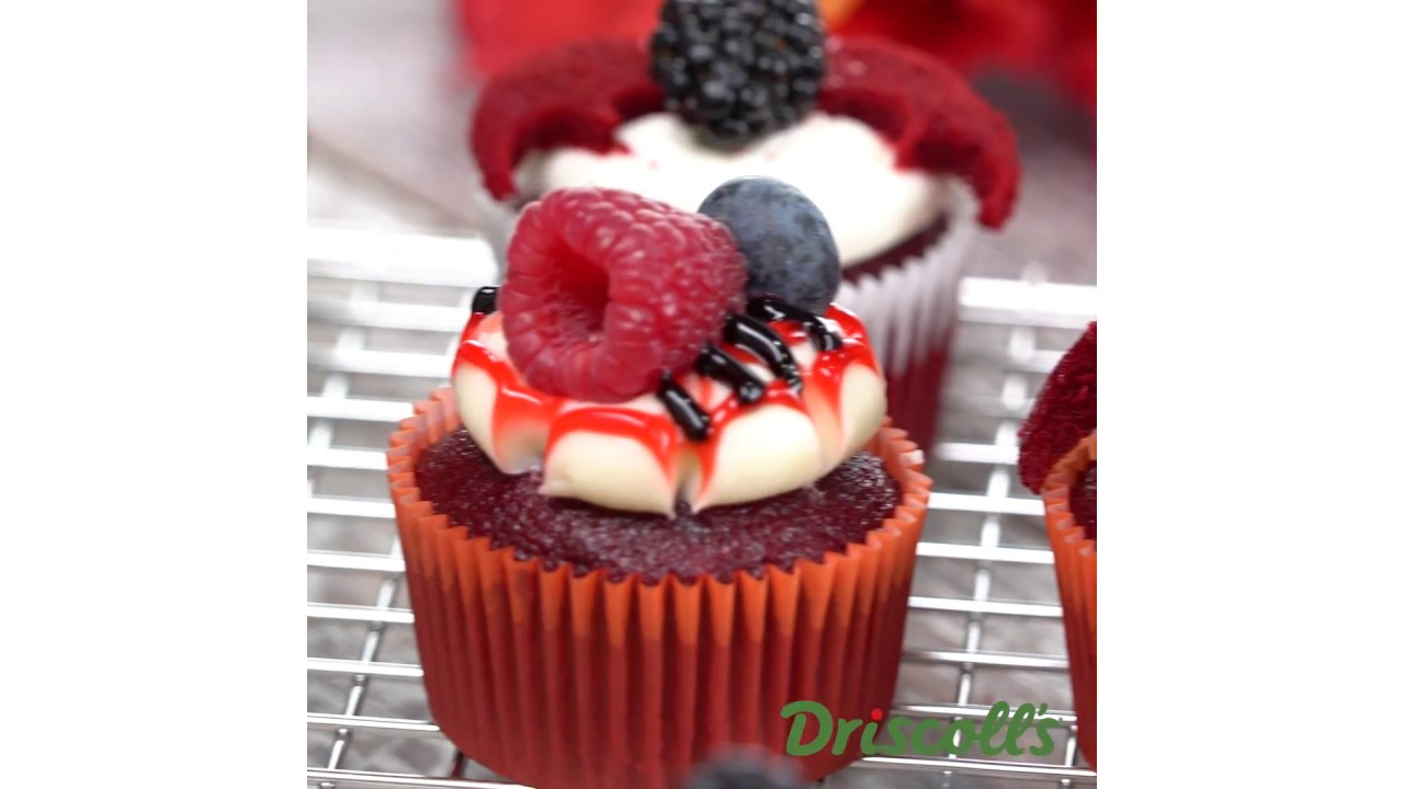 raspberry red velvet cupcakes recipe for halloween driscolls