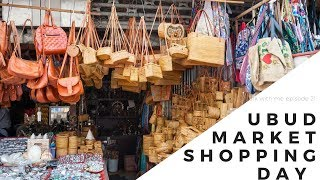 WALK WITH ME EP 2 : BALI UBUD ART MARKET , SHOPPING IN BALI  WITH SONY 60P