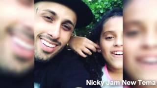 Nicky Jam Cantando Nuevo Tema con su Hija 2015