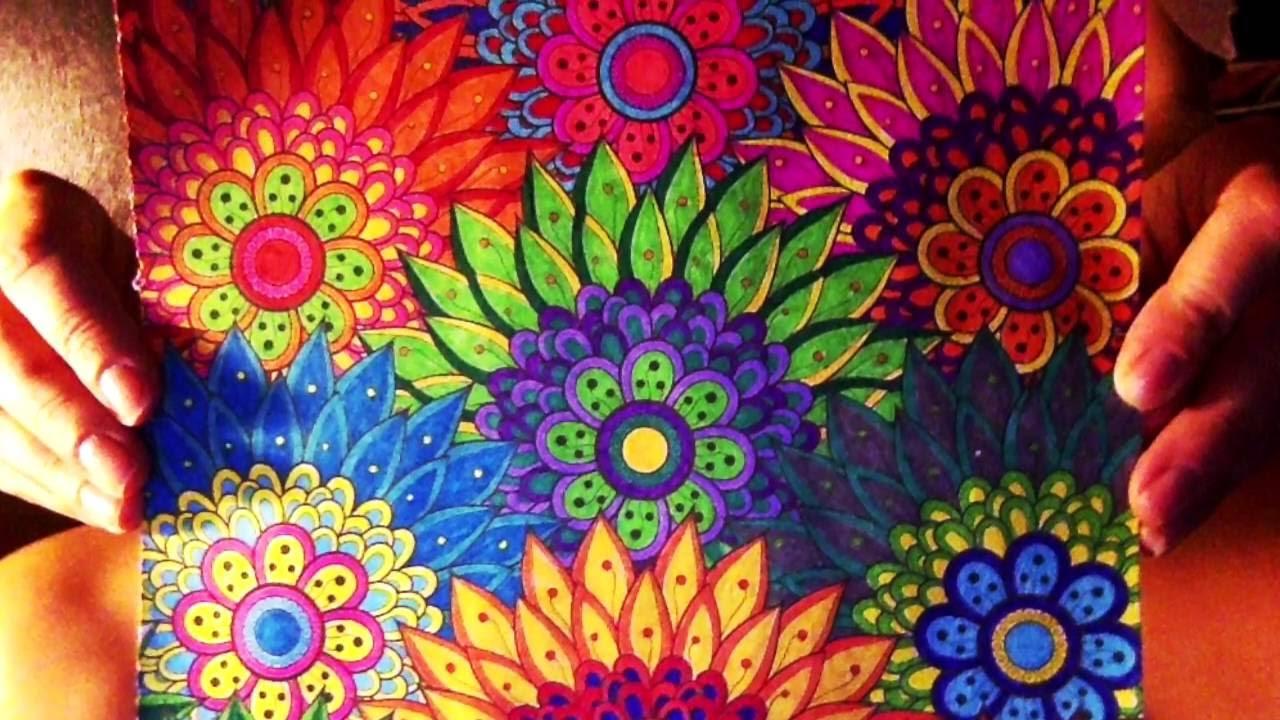 цветы раскраска антистресс
