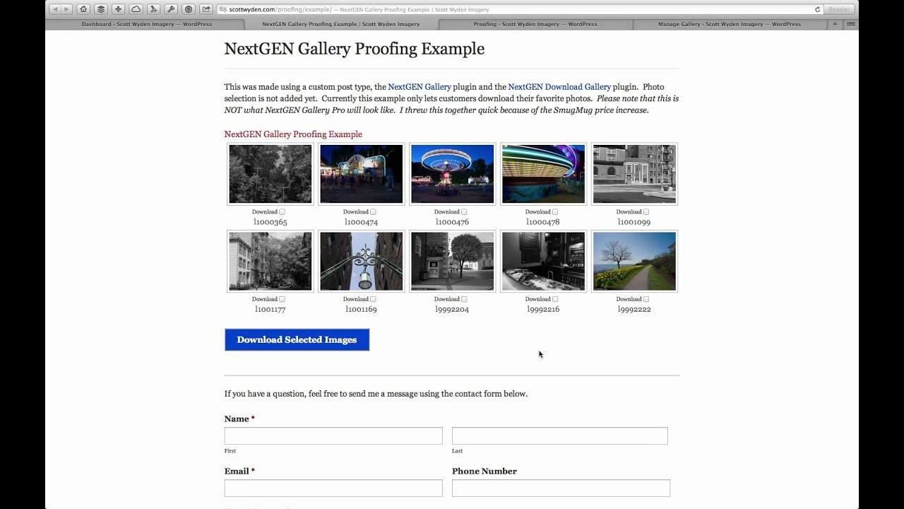 Photography Proofing in WordPress with NextGEN Gallery