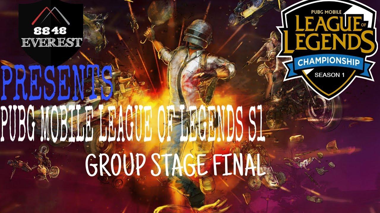 PUBG MOBILE LEAGUE OF LEGENDS S1 | GROUP STAGE FINAL ...