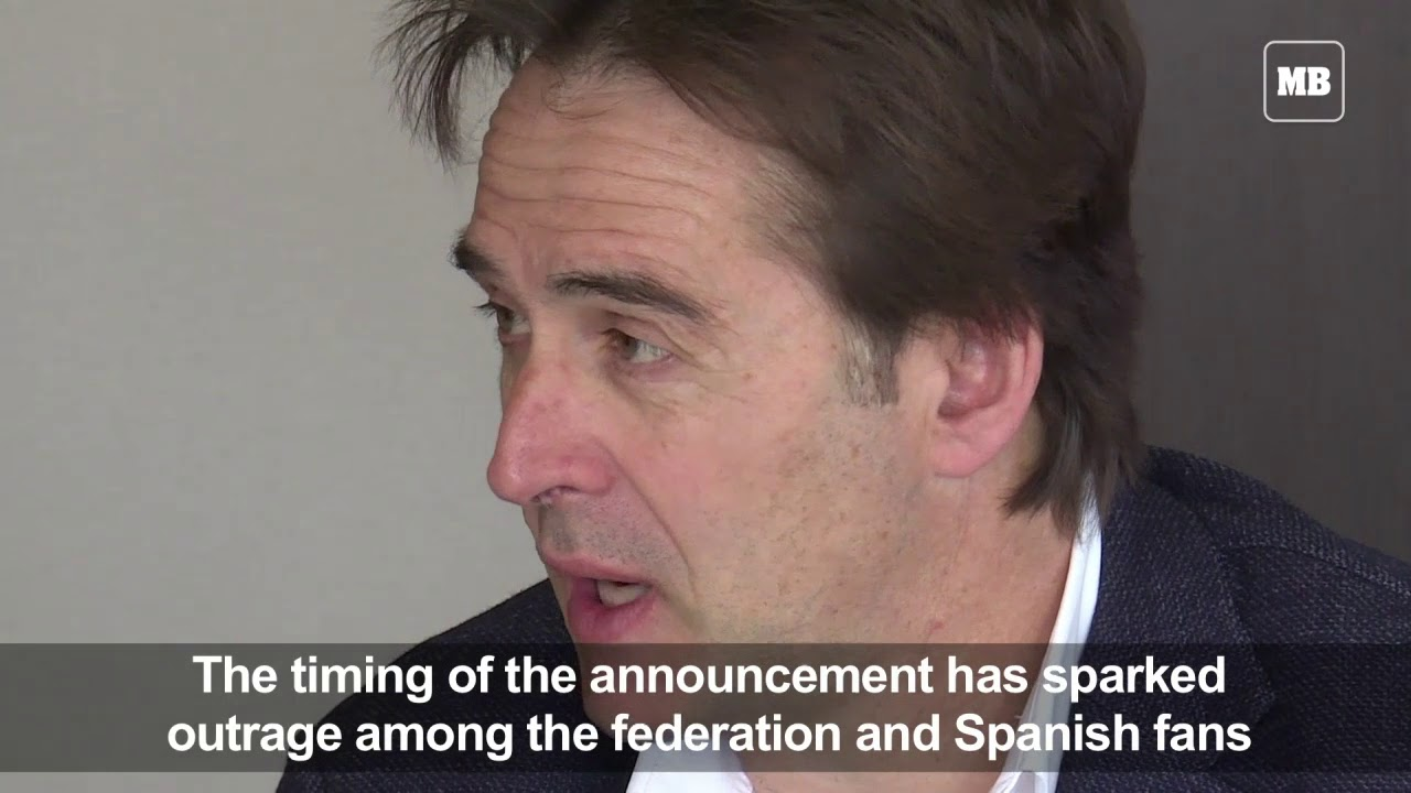 Spain sacks coach Lopetegui on eve of World Cup
