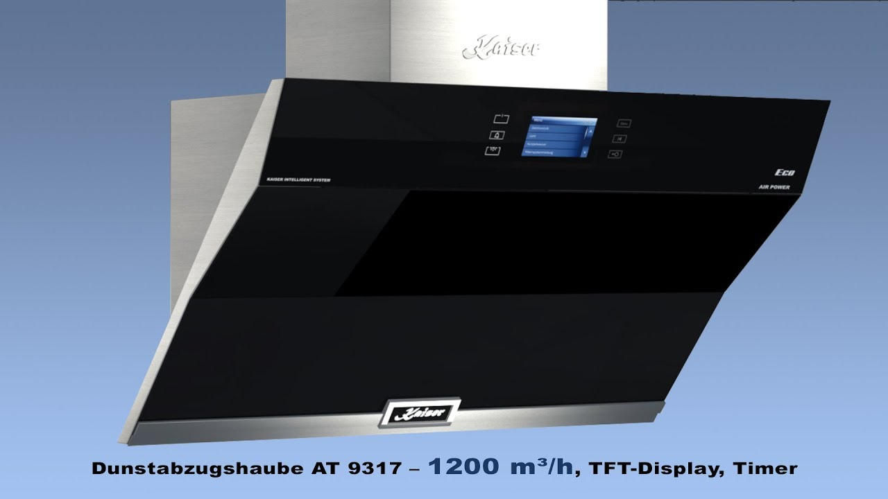 Kaiser dunstabzugshaube at u m³ h tft display timer