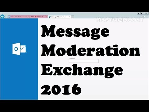 Managing Message Moderation for Distribution Groups