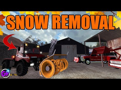 SNOW REMOVAL BUSINESS | Episode 3 | FS17 SNOW MOD | FARMING SIMULATOR 2017 thumbnail