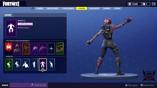Fortnite New Season 5 Battle Pass Redline Skin + the new emotes