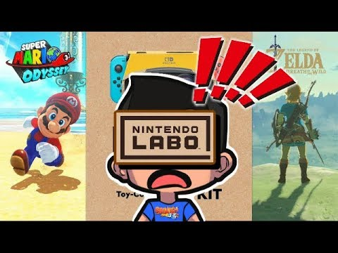 Labo VR Adds Super Mario Odyssey VR & Zelda BOTW Virtual Reality Modes!