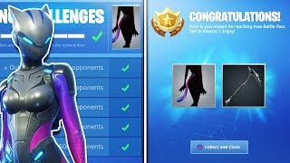 "LYNX ""FULLY UPGRADED"" STAGE 4 SKIN UNLOCKED - Tail BackBling?! Max Lynx Challenges Fortnite Saison 7"