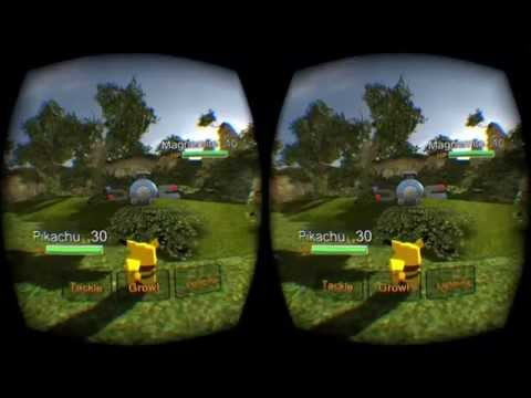 Pokemon in Virtual Reality! Gameplay of Pokemon VR for Oculus Rift, Leap Motion, and Voice Attack