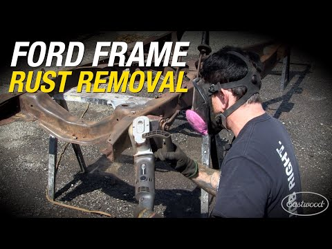 How To Remove Rust On An 80 YEAR OLD Ford Frame! Contour SCT, Needle Scaler & More! Eastwood