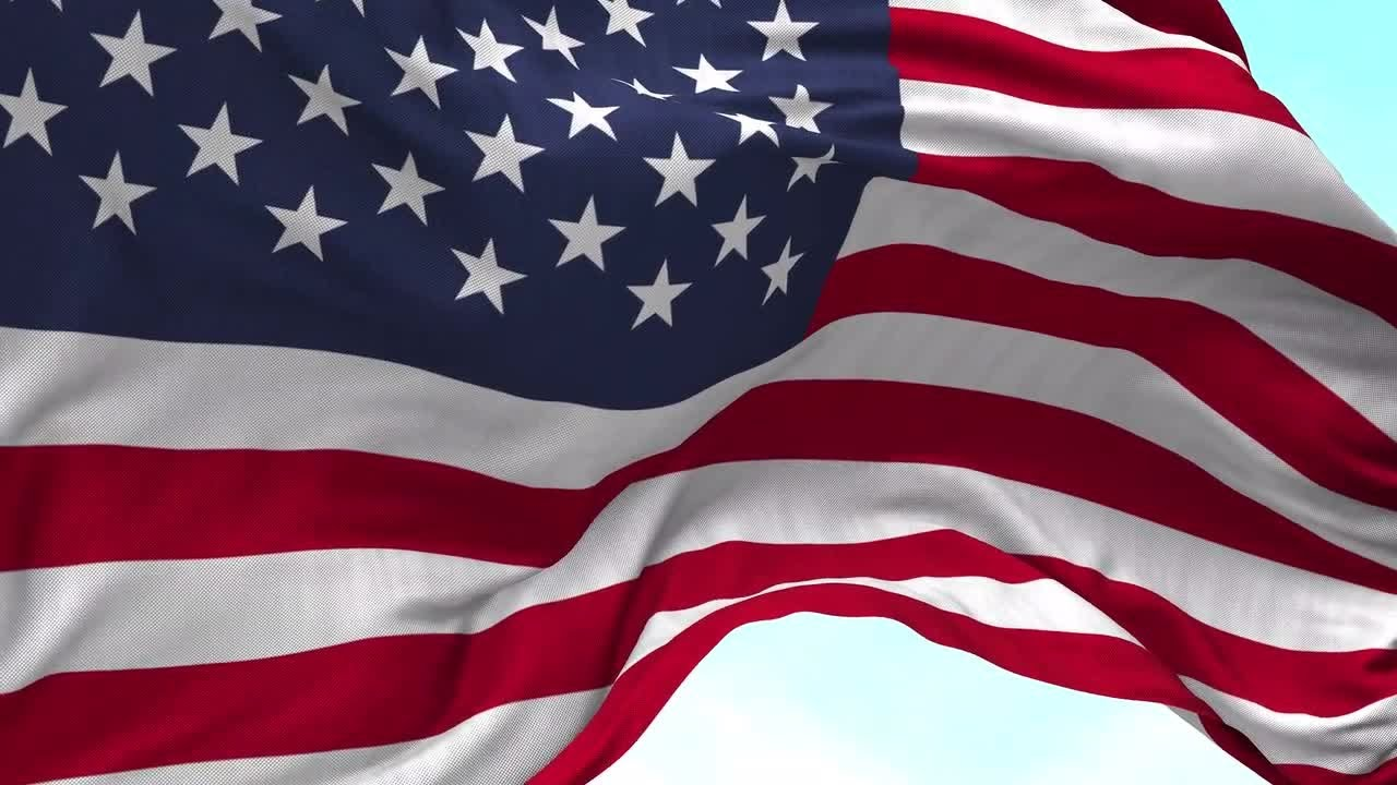 USA Flag Animation Motion Graphics