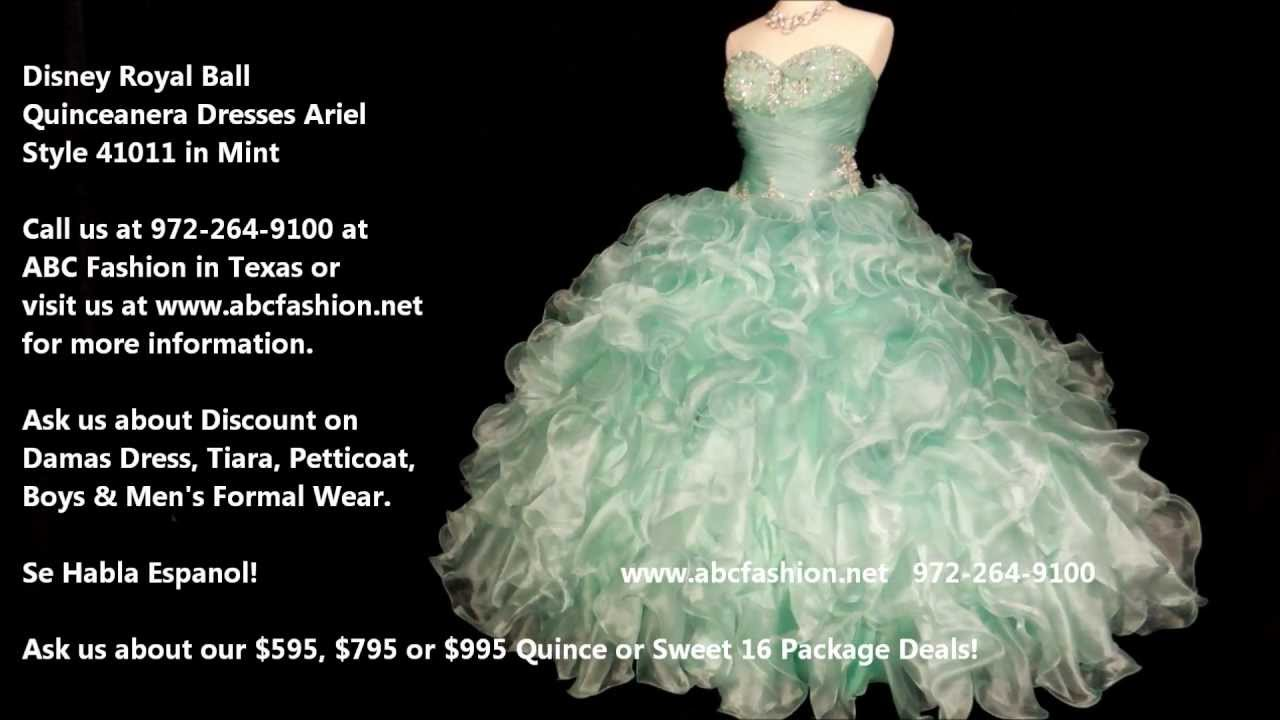 41011 Ariel Disney Royal Ball Quinceanera Dress, Prom Dress in Mint ...