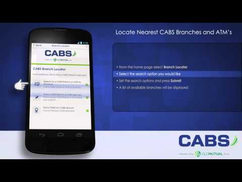 Tutorial 9: Locate nearest CABS branch or ATM