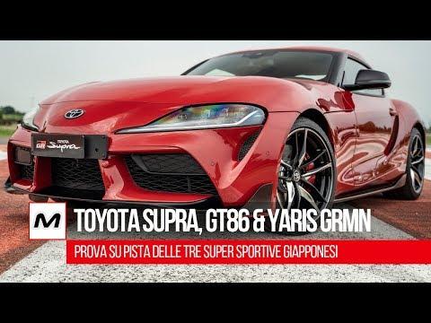 Toyota Supra, Toyota GT86 e Toyota Yaris GRMN: in pista con le sportive giapponesi