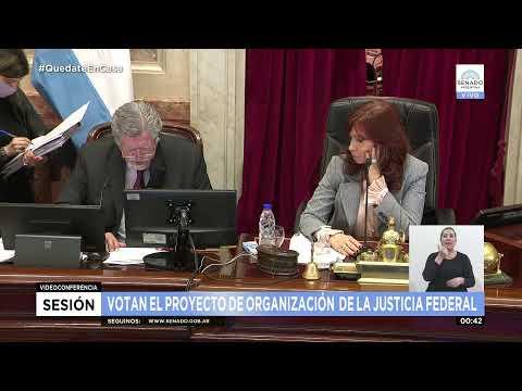 El Senado ya debate el proyecto de reforma judicial