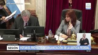 Sesiona el Senado para tratar el proyecto de reforma judicial y el oficialismo va por su aprobación