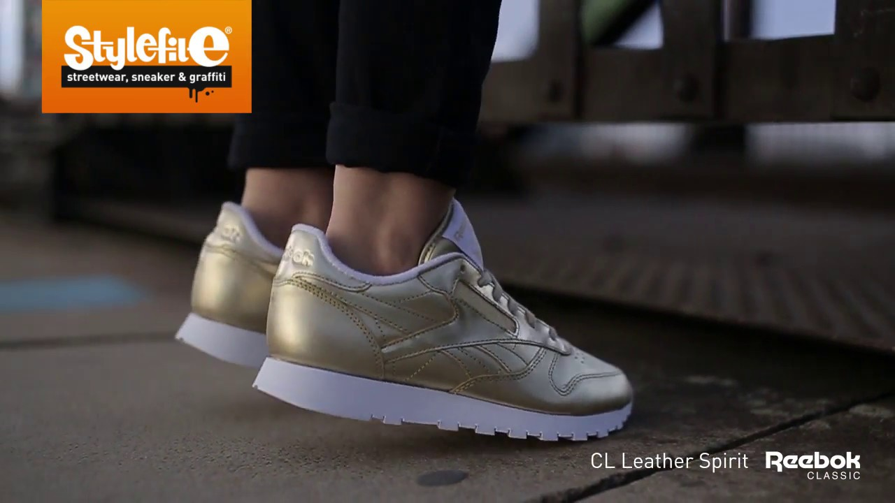 Reebok CL Leather Spirit Women Sneaker gold (On-Feet)  Stylefile ... 1fde31bf4