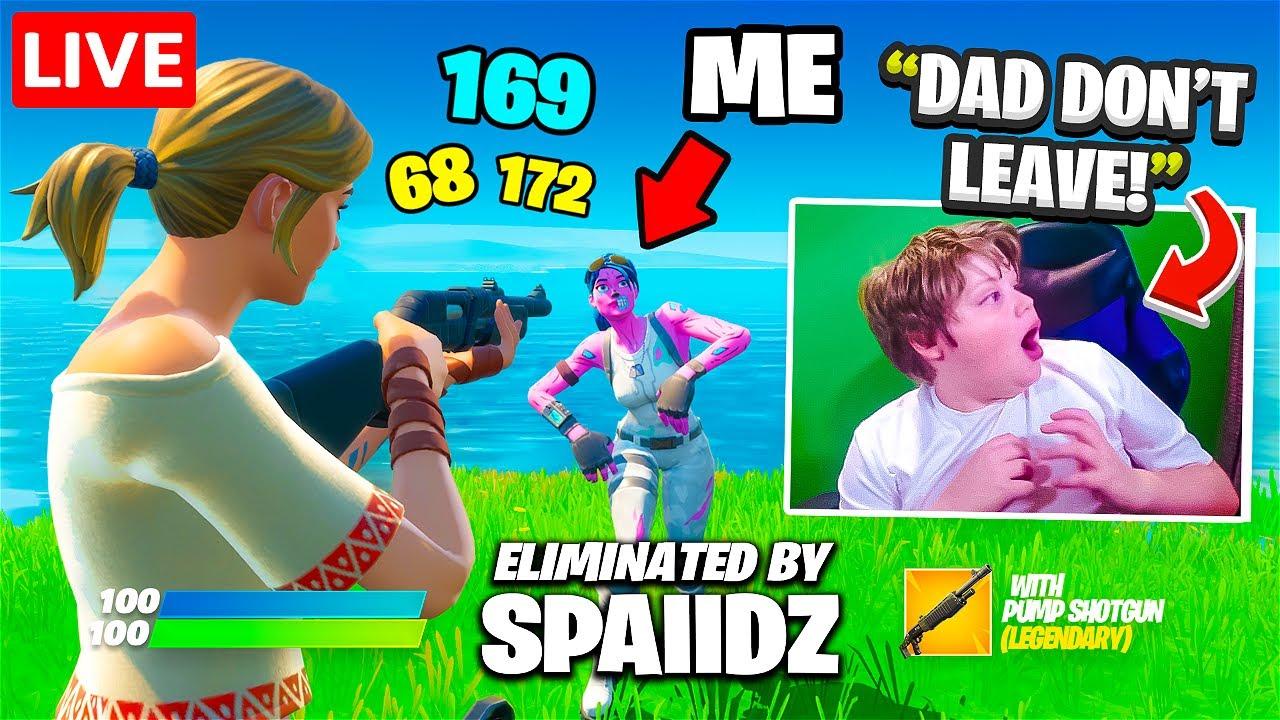 I Stream Sniped Until His Dad Left Him...
