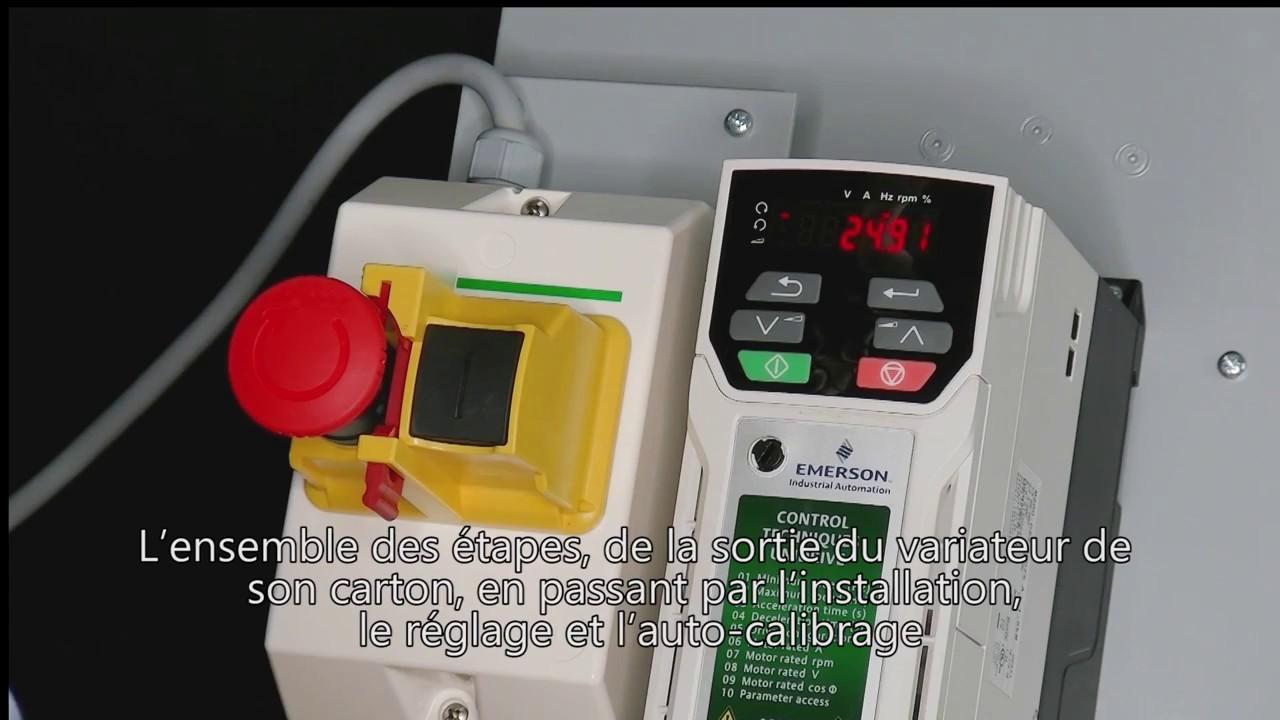 Facilité d'installation et paramétrage d'un Unidrive M200 on