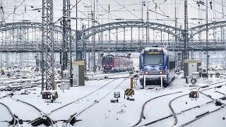 Sonntag früh am verschneiten Münchner Hbf mit ..........