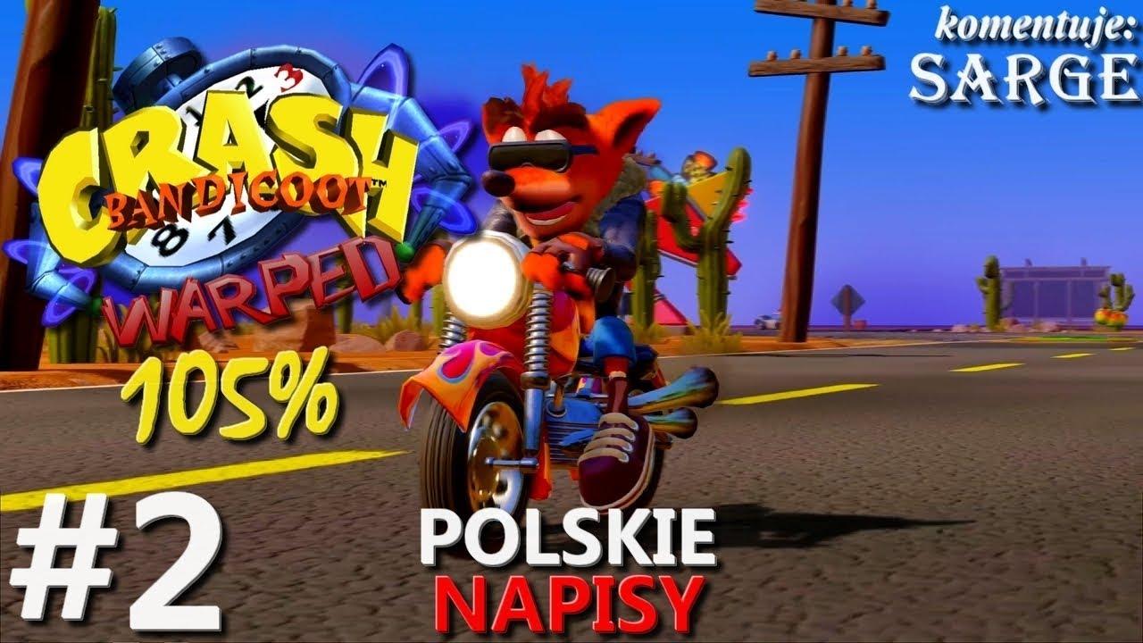 Zagrajmy w Crash Bandicoot 3 PS4 Remake (105%) odc. 2 – Arena gladiatorów | napisy PL | 1440p