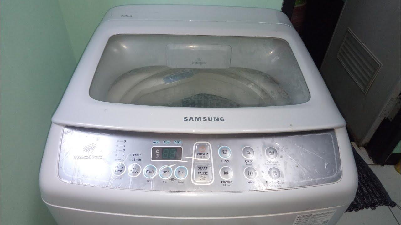 Cara Membersihkan Mesin Cuci Samsung Tabung Otomatis Youtube
