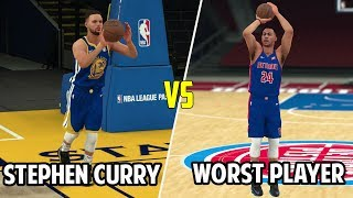 Can Stephen Curry Hit A Full Court Shot Before The Worst Player In The NBA Hits A Three? NBA 2K18