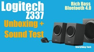 0446f2778e6 Logitech Z337 2.1 Speakers With Bluetooth | Unboxing and Test