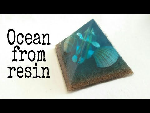 How to make Ocean from epoxy resin | resin diorama | resinart | resincraft |Epoxyresin casting
