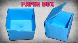 How to Make a Paper Box- Easy Origami Paper Crafts for Kids.