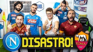 DISASTRO! ROMA 2-1 NAPOLI | LIVE REACTION TIFOSI NAPOLETANI E ROMANISTI LIVE HD