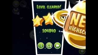 Angry Birds Space - Solar System. Level 10-12 Comet. 3 stars