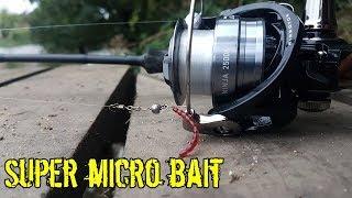Super micro jig fishing on berkley blood worm HD