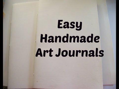 DIY Handmade Easy Art Journals / How to make a  journal