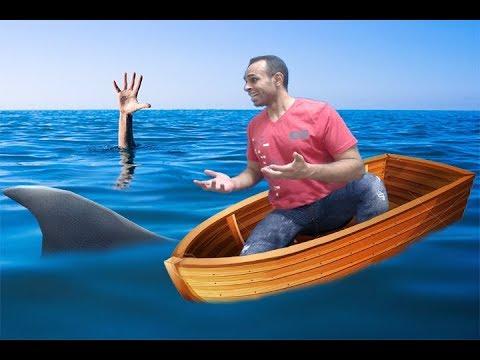 وحيد فى المحيط : انقاذ فتاة من الغرق و اكتشاف جزيرة الكنز Raft !!