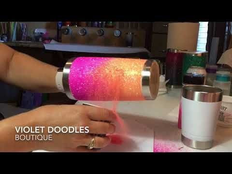 Perfect Glitter Ombre- Stainless Tumblers