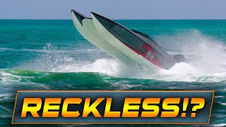 RECKLESS BOAT FULL SPEED PLUS 2 PEOPLE RESCUED! | HAULOVER INLET | HAULOVER BOATS | WAVY BOATS