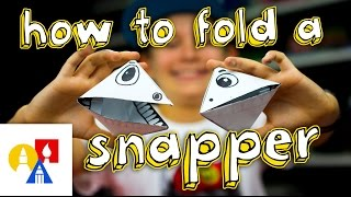 How To Fold An Origami Snapper Puppet