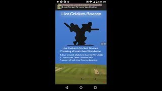 Live Cricket Scores Android App Review | Get Live Instant Cricket Scores | Instant Cricket Score App