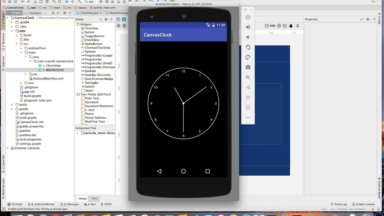 Draw an Analog Clock on Android with the Canvas 2D API